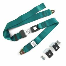 New listing 2pt Aqua Standard Buckle Lap Seat Belt with Mounting Hardware SafTboy rat rod