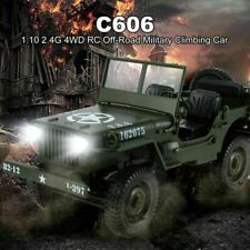 Toy Car Military Model 1 10 Mini Jeep Remote Control Buggy 4wd RC Truck Off-road