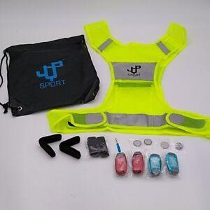 Men's Running Vest LED Safety Light Set in Backpack