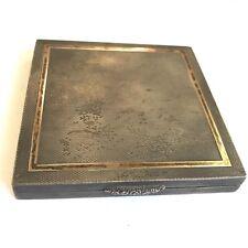 Fine Vintage Solid Silver Pill / Snuff Box Rose Gold Detail By Ivor Gordon 7.7cm