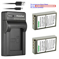 Kastar Battery Slim USB Charger for Olympus BLS-5 & Olympus E-PL8 EPL8 Camera