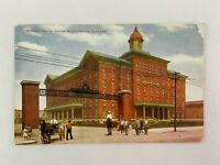 Transit House Union Stock Yard Illinois Vintage Postcard Horse Carriage Building