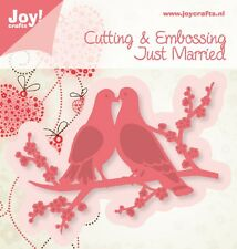 JOY CRAFTS Die Cutting & Embossing Stencil - Just Married - DOVE 6002/0383
