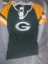Green Bay Packers Womens Small Short Sleeve T Shirt Nfl Team Apparel Green Gold