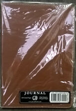 Brown Notebook Medium size Journal Leather-Like Cover 200 Lined Pages 100 GSM