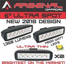 New #1 2018 Design Industries Brightest 2x 18w 6 MEGA WATT LED's Super Spot