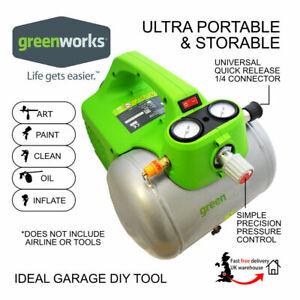 Air Compressor 240V Greenworks Electric Compact 6L 4600RPM 300W