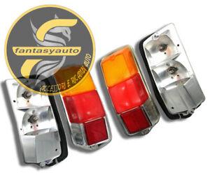 Fiat 500 F L R Due Fanali Fanalini Posteriori Dx & Sx Completi Di Lampade