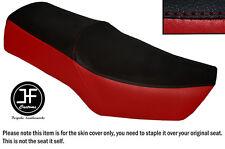 Rojo oscuro y negro Vinilo personalizado para SUZUKI GN 250 1987-1996 Doble Cubierta de asiento solamente