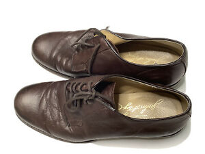 Frye James Oxford 9.5 Gum Sole brown leather lace shoe