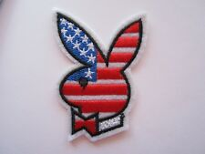 New listing Playboy American Flag Usa Iron On Patches Sewing Appliques