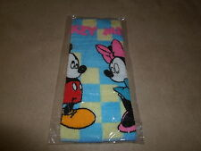"Disney Mickey & Minnie Mouse Washcloth~100% Cotton & 8"" X 7 3/4"", New In Package"