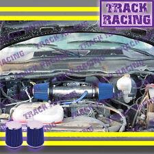 DUAL 03 04 05 06-09 DODGE RAM/DURANGO/ASPEN 5.7L V8 HEMI TWIN AIR INTAKE Blue