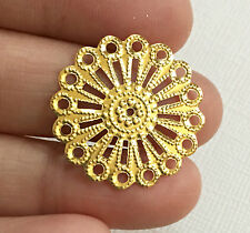 20 pcs of gold plated Filigree Focal Findings 25mm