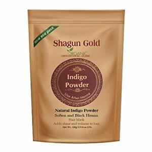 Shagun Gold Indigo Powder(Indigoferra Tinctoria) 400 gm Hair Color Free Shipment