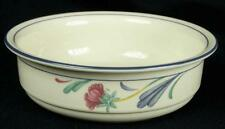 Lenox Chinastone China Poppies On Blue Soup Cereal Bowl (For the blue) (HH)