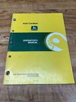 John Deere, 4435 Combines Operator's Manual, OM-Z91908A9