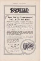 1914 Rayfield Carburetors Ad-Print/ Findeisen & Kropf