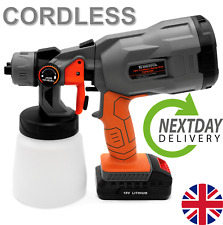 Paint Sprayer Cordless Electric 18V Spray Gun Paint Fence Airless HVLP