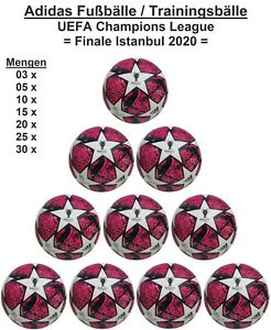 Adidas Finale Istanbul 2020 Club Trainingsbälle UEFA Champions League Ballpakete