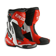 NEW DUCATI Corse 13 Racing Boots SIZE 43 EURO Red/Black/White