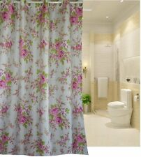 Europe latest generation hookless design roses shower curtain new free shipping