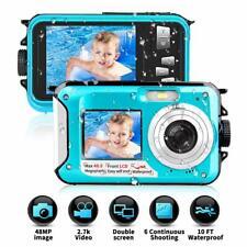 Underwater Camera 48MP Cam 2.7K  Full HD Waterproof Digital Action Dual Screens