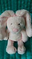 "Jellycat Kitten Pink Bunny Rabbit Soft Hug Toy Ginham Approx 8"""