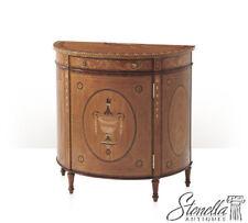 L45058: THEODORE ALEXANDER Inlaid Satinwood DemiLune Cabinet #6105-480 ~ NEW