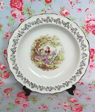 Sarreguemines Grand Plat Creux Porcelaine Vaisselle Ancienne Couple Fragonard