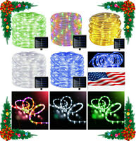Solar LED powered Fairy String Rope strip Lights Waterproof Outdoor garden patio