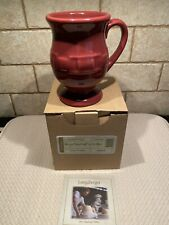 Longaberger Pottery Paprika Latte Mug 14 Oz Woven Traditions Nib Rare Reduced
