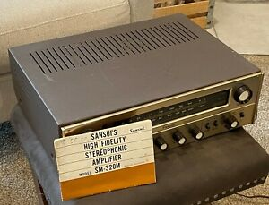 Vintage Sansui SM-320m TUBE receiver amplifier with owner's manual LOOK AT ME !