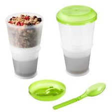 Cereal Cup, Granola Travel Mug Insulated Milk Cooling Compartment - Muesli On