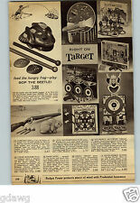 1962 PAPER AD Toy Astroray Gun Ohio Art Huckleberry Hound Ring Toss Bullwinkle