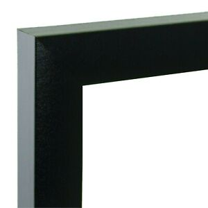 """US Art Frames 36x24 Black 1"""" Flat Wood Composite MDF Picture & Poster Frame"""