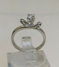 14k solid gold & diamond solitaire ring 1.72g size I -  4 1/4