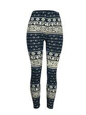 Elephants & Paisleys & More One Size Black & Blue OS Leggings Pants Buttery Soft