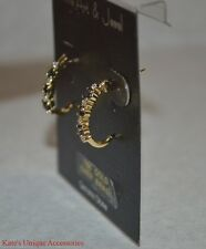Prime Art & Jewel Diamond Accent W/ Genuine Stone Earrings 18K Gold Over Brass