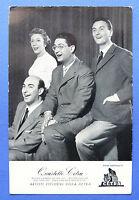 Collezionismo - Cartolina discografica Cetra  - Quartetto Cetra - anni '50