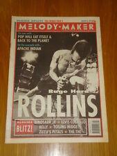 MELODY MAKER 1993 JAN 23 HENRY ROLLINS DINOSAUR JR