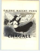 1959 Mini Poster Marc Chagall Lithograph ORIGINAL Print Gallery Maeght Paris