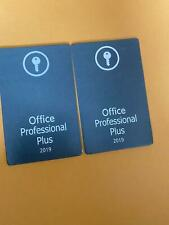 Microsoft Office Professional Plus 2019 Key Card for life time for windows only