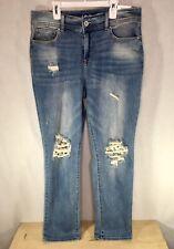 Inc International Concepts Ripped Boyfriend Jeans Regular Mid Rise Size 10