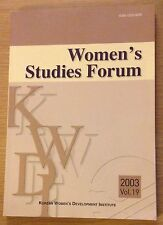 WOMEN'S STUDIES FORUM Korean Women's Development Institute Book (2003 Volume 19)