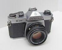 PENTAX K1000 35mm SLR Camera With Pentax-M 1:2 50mm Lens Tested