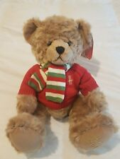 "HARRODS Footdated Christmas Teddy Bear 2010 - Archie - 13"" Tall"