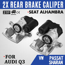 2x Rear Left Right Brake Caliper For AUDI Q3 Passat Sharan Alhambra