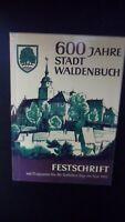 Festschrift 600 Jahre Stadt Waldenbuch 1963, Landkreis Böblingen, Stuttgart