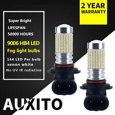 2PCS AUXITO 9006 HB4 144 SMD LED Driving DRL Fog Light Bulbs 6000K Xenon White